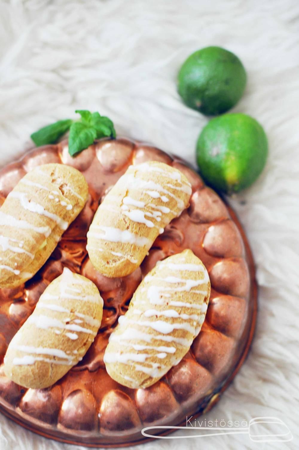Lime and mint éclairs - Kivistössä Foodblog www.kivistossa.com