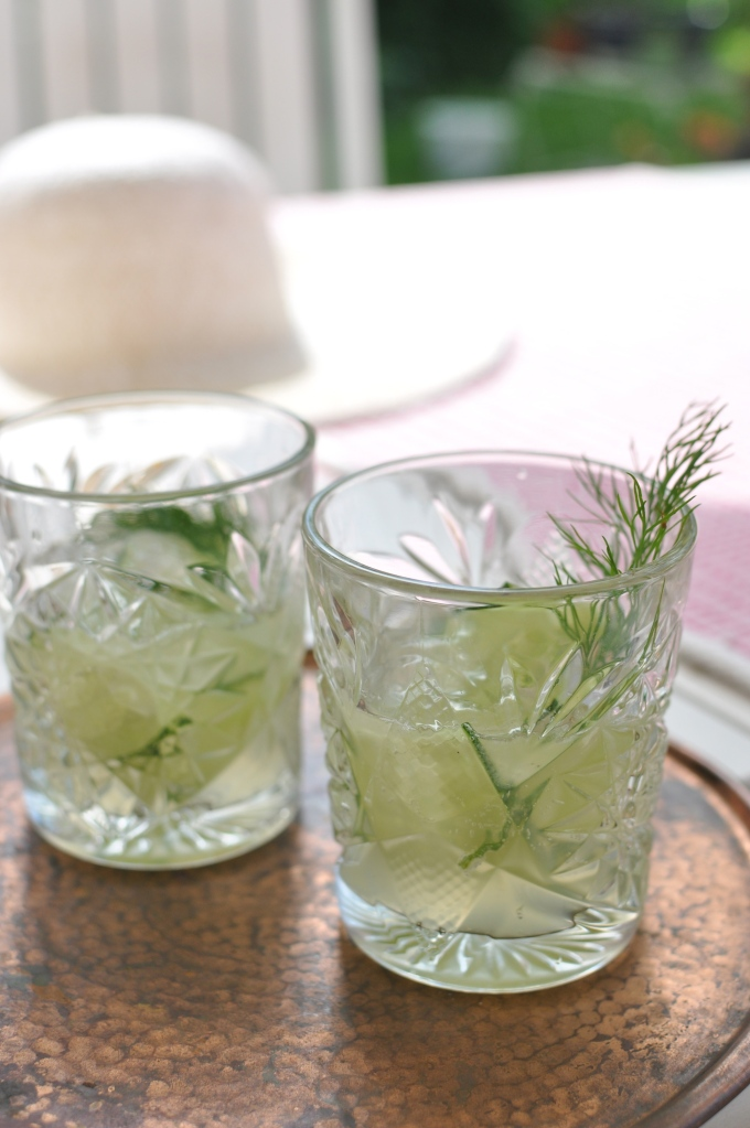 Dill aquavit and cucumber cocktail - Kivistössä foodblog www.kivistossa.com