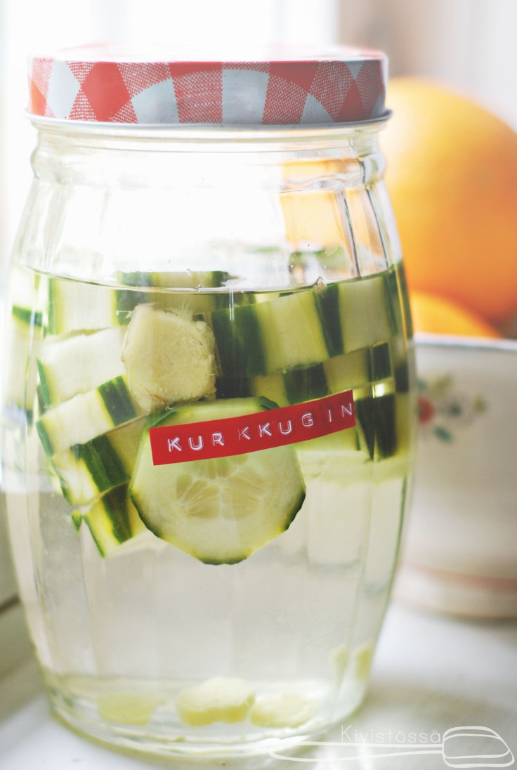 cucumber and ginger gin www.kivistossa.com